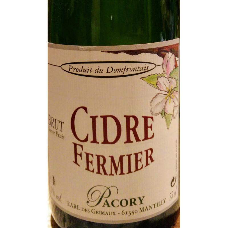 Domaine Pacory - Cidre fermier brut - BIO
